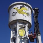 Even the water tower is embellished